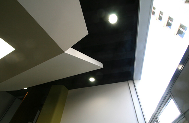 Senator Singh Office Fitout, office ceiling