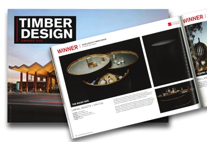 liminal objects magic box featured in timber design awards