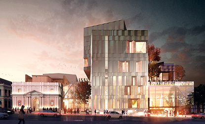 Liminal Architecture WOHA Arup - creative industries and performing arts development DA approval