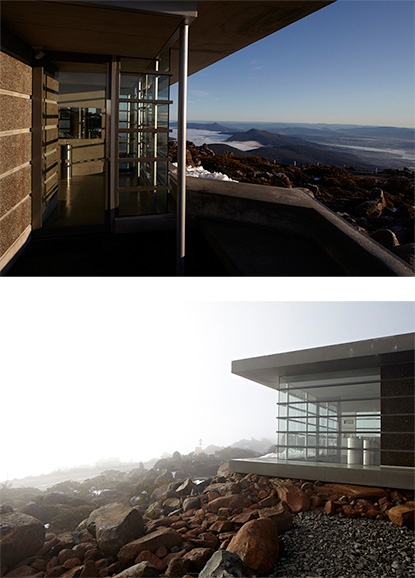 News feature - Liminal Architecture provides comfort (and relief!) with a magic view at the top of Mt Wellington