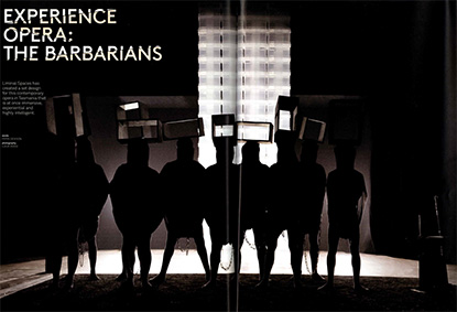 News feature - Liminal Spaces - The Barbarians featured in Artichoke reviewed by Pippa Dickson