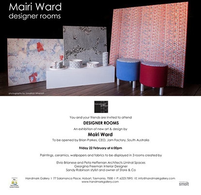 Liminal Spaces, Mairi Ward Exhibition, Handmark Gallery Installation